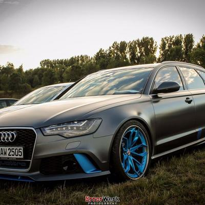 Audi RS6 auf 21 Zoll HRE Wheels